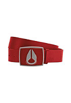 NIXON Enamel Icon Leather Belt red