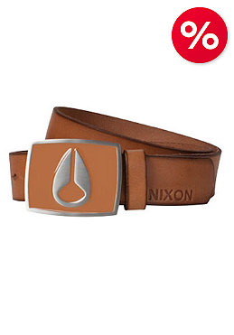 NIXON Enamel Icon Leather Belt saddle