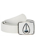 NIXON Enamel Icon Leather Belt white