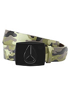 NIXON Enamel Icon Leather Belt woodland camo