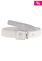 NIXON Enamel Icon Slim Belt white/black