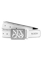 NIXON Enamel Philly Belt white / black