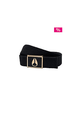 NIXON Enamel Wings Belt matt black/gold