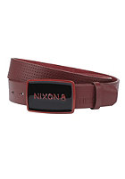 NIXON Enamel Wordmark Belt dark red/