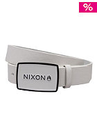 NIXON Enamel Wordmark Belt white/black