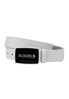 NIXON Enamel Wordmark Belt white pin dot