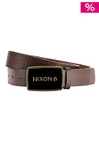 NIXON Enamel Wordmark dark brown pin dot