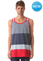 NIXON GT Tank S/S T-Shirt faded navy / red / light blue