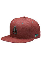 NIXON High 5 Fitted Cap burgundy heather