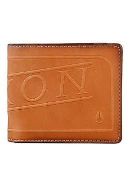 NIXON Labelled Bi-Fold Zip Wallet saddle