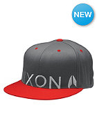 NIXON Lock Up 210 Cap charcoal / red pepper