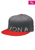 NIXON Lock Up 210 Cap charcoal / red pepper