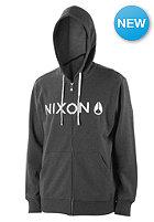 NIXON Lockup Hooded Zip Sweat black heather