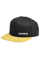 NIXON Lockup Snapback Cap black / butterscotch