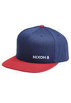NIXON Lockup Snapback Cap light navy / red
