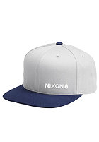 NIXON Lockup Snapback Cap silver / light navy