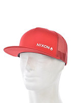 NIXON Lockup Trucker Cap red