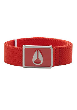 NIXON Mono Enamel Wings Belt red pepper