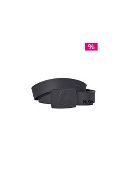 NIXON Mono Rubber Enamel Icon Belt black