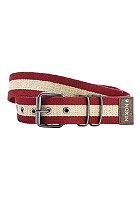 NIXON Morris Belt dark red/khaki