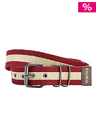 Morris Belt dark red/khaki