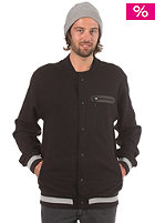NIXON Onyx Button Up Crew Sweatshirt black