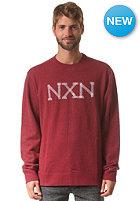 NIXON Paddington Crew Sweat burgundy heather