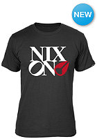 NIXON Philly Too S/S T-Shirt black/white/red