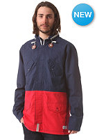 NIXON PI Jacket faded navy / red