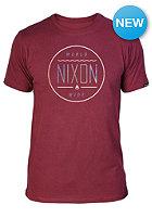 NIXON Radar S/S T-Shirt burgundy