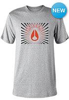 NIXON Rising S/S T-Shirt heather gray