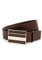 NIXON Rotolog Leather Belt dark wood