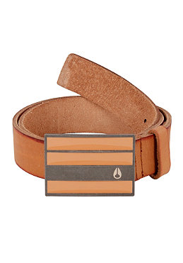 NIXON Rotolog Leather Belt saddle