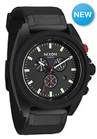 NIXON Rover Chrono all Black / red