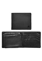 NIXON Satellite Big Bill Bi-Fold ID Coin Wallet black nylon