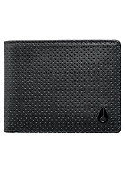 NIXON Satellite Big Bill Bi-Fold ID Coin Wallet black perf