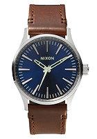 NIXON Sentry 38 Lthr blue / brown