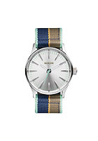 NIXON Sentry 38 Nylon silver / navy stripe