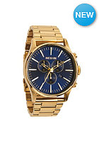 NIXON Sentry Chrono gold / blue sunray