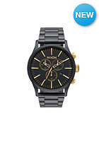 NIXON Sentry Chrono matte black / gold