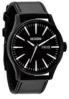 NIXON Sentry Leather black / white