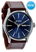 NIXON Sentry Leather blue / brown