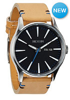 NIXON Sentry Leather natural/black