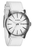 NIXON Sentry Leather silver/white