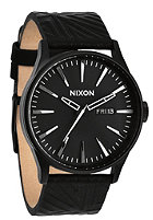 NIXON Sentry Lthr all black shadow