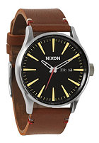 NIXON Sentry Lthr black/brown