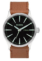NIXON Sentry Lthr black/saddle