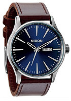 NIXON Sentry Lthr blue / brown
