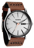 NIXON Sentry Lthr saddle/silver