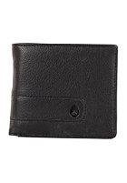 NIXON Showtime Bi-Fold ID Zip Wallet all black